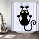 Waterproof 3D Cute Funny Cat Printed Bathroom Shower Curtain Polyester 180*180CM