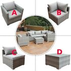 Home Garden Patio Rattan Sofa Furniture Set Combination Cushioned Pe Wicker Us