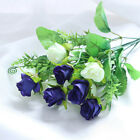 Soft Artificial Flower Natural 12-Heads Tied Bouquet Wedding Home Real Plants