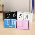 Vintage Wooden Advent Table Calendar Wood Block Planer Durable Desktop Organizer