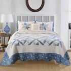Kasentex Luxurious Real Patchwork Design Quilt Bedspread 100% Premium Cotton image