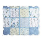 Willow Blue And Yellow Floral Patchwork Pillow Shams, by Collections Etc image