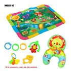 Nonwoven Soft Plush Toy Baby Activity Play Mat 3D Infant Rattles and Pillow Set