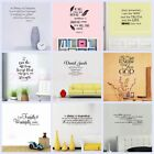 Bible Verses Religious Quotes Vinyl Art Wall Stickers Removable Home Decor Decal