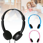 Adjustable Foldable Kid Wired Headband Earphone Headphones with Mic Stereo Bass