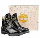 """Timberland Mens Premium Limited Edition 6"""" Inch Champagne Boots Black Gold A1U6J"""