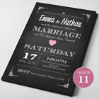Personalised Wedding Invitations Day or Evening FREE reprint if event cancelled^