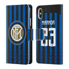 INTER MILAN 2018/19 PLAYERS HOME KIT GROUP 2 LEATHER BOOK CASE FOR APPLE iPHONE