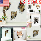 US  Dog Cat Wall Stickers Self Adhesive Wall Decal Sticker For Fridge Toilet