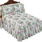 Floral Bouquet Quilted Ruffled Bedspread, by Collections Etc image