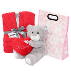 3 PIECE VALENTINES DAY GIFT BAG JE TAIME TEDDY BEAR AND BATH ROBE GIRLFRIEND
