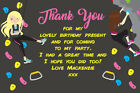 Personalised Rock Wall Climbing Birthday Party Thank You Cards + Envelopes B127