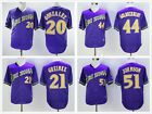 Men's Throwback Purple Stitched Jersey Arizona Diamondbacks #20 #21 #44 #51 on Ebay