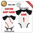 custom name & number baby Baseball Jumpsuit Bodysuit Clothes NB-24M LA4430