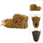 Dunlop Womens Novelty Leopard Claw Slippers Ladies Faux Fur Monster Animal Shoes