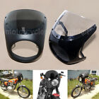 "Universal Cafe Racer Handlebar 7"" Headlight Windshield Fairing Screen Fit Harley $37.03 USD on eBay"
