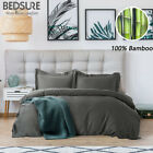 Bedsure 100% Bamboo Duvet Cover Set Hypoallergenic Soft Comforter Cover 3pcs image