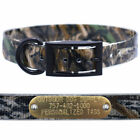 1″ Real Tree Camo D Ring Dog Collar with Custom Name Tag ID Plate