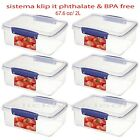 Sistema klip it Food Storage Container Phthalate & BPA Free Made in New Zealand