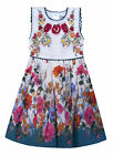 Girls Summer Dress Cotton Floral Baby Girls Dresses New Age 6-24 Months 2-11 Yrs