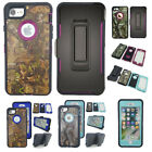 Camo Defender High Impact RuggedHolster Stand Belt Clip Case Cover for iPhone 7