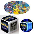 Hot Anime Pokemon LED Bedside Light Digital Alarm Clock 7 Colors Changing WT