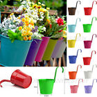 DETACHABLE Steel Iron Flower Pot Hanging Plants Baskets for Balcony Garden Decor
