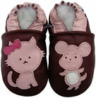carozoo mouse cat purple outdoor rubber sole leather shoes up to 4 years old