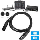 Microphone Lead XLR Patch Cord Male to Female Extension Mic Audio Cable 6ft 10ft