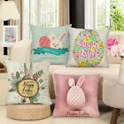 Easter Pillow Cushion Cover Rabbit Egg Printed Linen Decoration Pillow Case