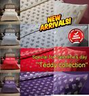 Teddy Fleece Warm Cosy Heart & STAR Foil Valentine's day Duvet Cover Set/Sheets image