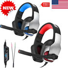 Wired PC Gaming Headset Headphones Earphones Mic Fits PS4 Xbox One,PC,Controller