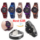 Fashion Women Watch Luxury Starry Sky with Star Watch Magnet Strap Buckle Gift