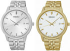 Seiko Men's Analog Quartz 100m Gold/Silver Tone Stainless Steel Watch image