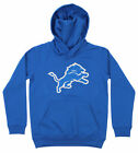 OuterStuff NFL Youth Detroit Lions Primary Team Logo Fleece Hoodie, Blue $34.99 USD on eBay