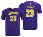 NBA Youth Los Angeles Lakers Lebron James #23 Player Tee Shirt, Purple on eBay