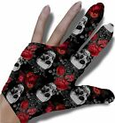 Gothic Roses and Skulls Billiard Glove $14.95 USD on eBay