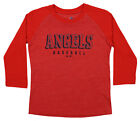 Majestic MLB Youth Los Angeles Angels Baseball Academy 3/4 Sleeve Raglan Tee on Ebay