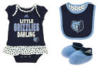 Adidas NBA Infant Memphis Grizzlies 3 Piece Creeper, Bib and Booty Set, Navy on eBay