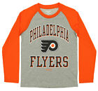Reebok NHL Youth Philadelphia Flyers Long Sleeve Raglan Tee, Grey $9.99 USD on eBay