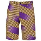 Forever Collectibles NFL Men's Minnesota Vikings Diagonal Stripe Walking Shorts