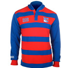 KLEW NHL Men's New York Rangers Striped Rugby Pullover Hoodie, Blue / Red $39.99 USD on eBay