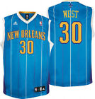 Adidas NBA Men's New Orleans Hornets Replica Basketball Jersey, David West #30