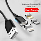 3A Ladekabel Micro USB Magnetkabel Magnet  Datenkabel für iPhone Android Samsung