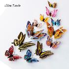 12pcs 3D Butterfly Fashion Design Home Stickers Kids Bedroom Magnetic Home Decor