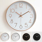 1 X 12'' Analog Atomic Wall Clock Quartz Accurate Quiet Office Non-Ticking Home