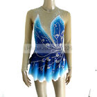 Figure Skating Dress Women's Girls' Ice Competition Skating Long sleeves Blue