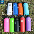 Hydro Flask Insulated Stainless Steel Water Bottle Wide Mouth Cap With Straw Lid