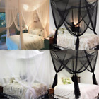 4 Corner Post Bed Canopy Mosquito Net Netting Bedding Lace Queen/King Bed 3Color image