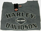 Mens Harley-Davidson Bar & Shield Logo T-Shirt Grey Shirt Medium Large & 2XL NEW image